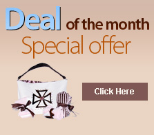 Deal of the Month is Designer Diaper Bag with lots of extras!